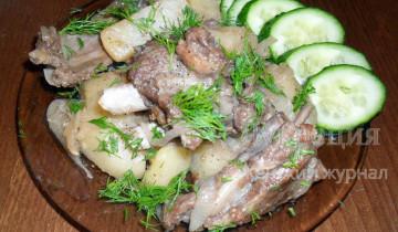 Бараньи ребрышки с картошкой