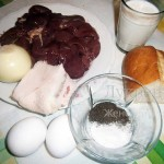 Ингредиенты для печеночных котлет
