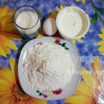 Ингредиенты для печенья на сметане