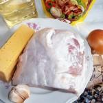Ингредиенты для свиных рулетиков с сыром