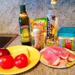 Ингредиенты для свинины под сыром