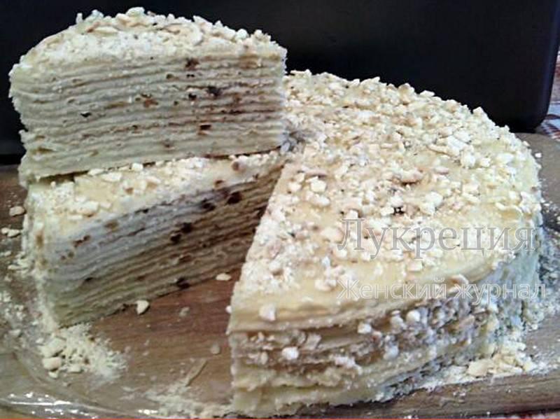 торт наполеон со сгущенкой рецепт с фото пошаговый